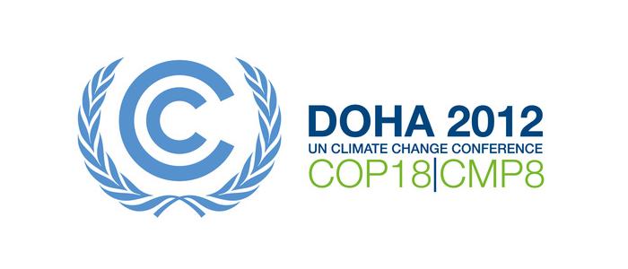 Logo conférence de Doha sur le climat
