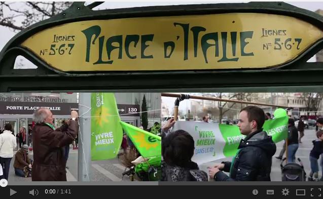 Le samedi 15 mars, les écologistes du 13e arrondissement de Paris  investissent la Place d Italie pour proposer aux passants, habitants du 13e…  de bâtir leur ... 351c006fdc7