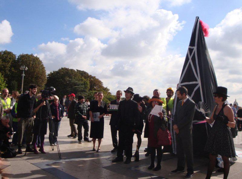 Manifestation contre les gaz de schiste