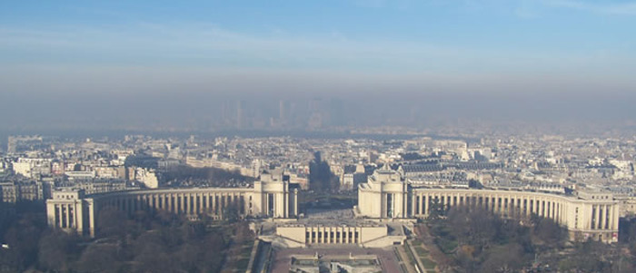 Pollution sur Paris - crédits Airparif