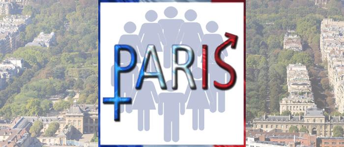 Logo de l'égalité de genre. Paris