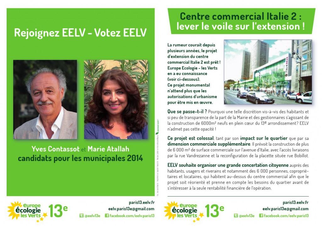 EELV Paris 13e lève le voile sur les projets d'extension